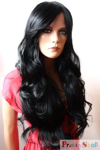 Prettyshop Voluminosa parrucca con capelli lunghi mossi realizzata in fibre artificiali resistenti al calore