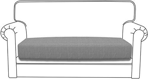 Yidaxing Funda para Asientos de Sofá Elástica Protector de Cojin de Asiento Separados para sofá Fundas de cojín(2 Plazas, Gris Claro)