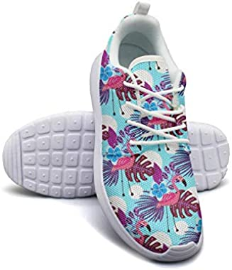 Flamingo Palm Running Shoes Lightweight for Women Sneaker Lace-up Casual Shoes