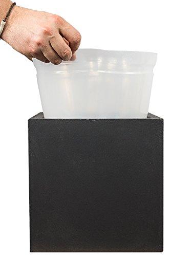 Pflanzwerk Fioriera Inserto Vaso di Fiori Plastica per Tutti i Modelli Cube 28x28x28cm *Resistente al Gelo* *Prodotti di qualità*