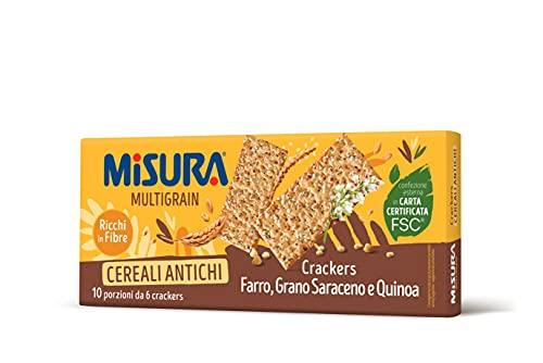 Misura Crackers ai Cereali Multigrain | Farro, Grano Saraceno e Quinoa | Confezione da 350 grammi