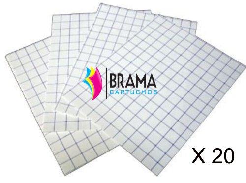 Bramacartuchos - 20X Hojas Papel Transfer para Camisetas de Algodon Blancas para...