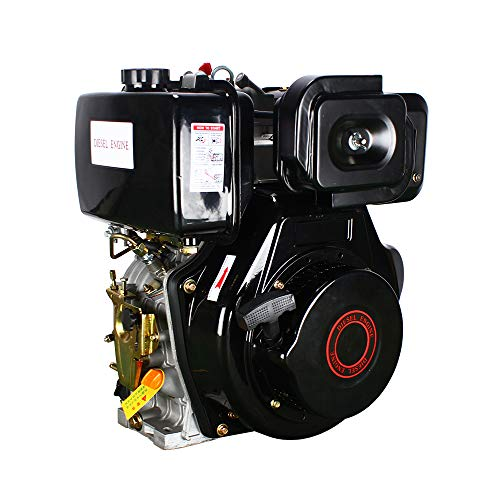 186F 9HP Diesel Engine 4 Stroke Single Cylinder 406CC Forced Air Cooling Diesel Engine for Agricultural Machinery