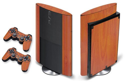 Designer Skin for PS3 Super Slim Console and Two Controllers - Grain