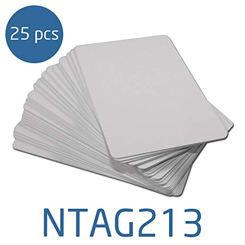 NTAG213 - Blank White NFC PVC ISO Cards - 25 Pack