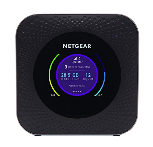 NETGEAR Nighthawk MR1100 Mobile Hotspot 4G Router, Mifi, Portable Wi-Fi for Travel, Super Fast Download Speeds Up to 1 Gbps, Unlocked for All Networks