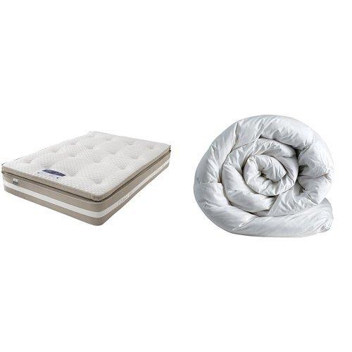 Silentnight 1850 Pocket Geltex Mattress with Deep Sleep 10.5 Tog Duvet - Super King