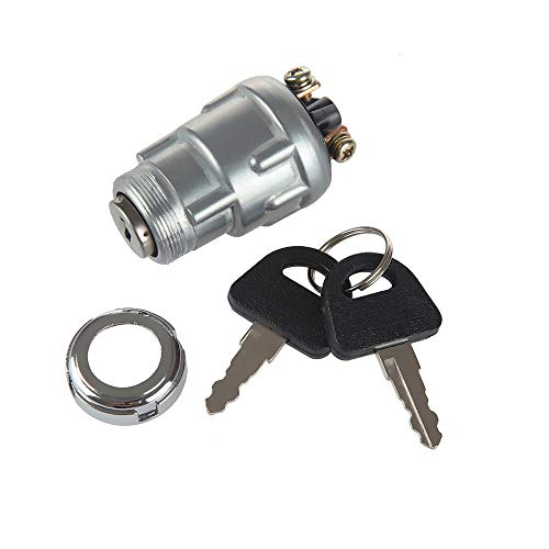 LARBI Ignition Starter Switch With 3 Position 3 Connection Terminal 2 keys for Car, Motorcycle, Tractor, Forklift, Truck, Scooter, Trailer, Agricultural,Modified Car, 50cc 90cc 110cc 125cc 150cc 25