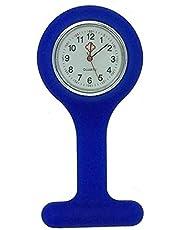 Boolavard® TM Orologio da infermiere in silicone con spilla - orologio tascabile BLU