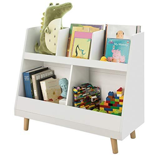SoBuy Librería Infantil para niños Estantería estándar Infantil Blanco 86 * 36 * 77cm KMB19-W ES