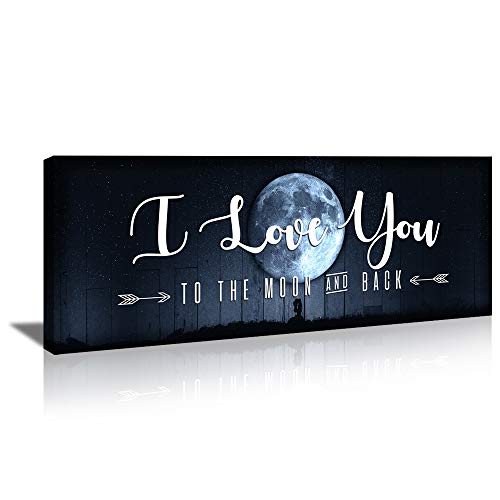 KuyiArt-Home Décor Canvas Wall Art Decorative Signs I Love You Canvas Prints Poster for Home Living...