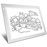 Silver A4 Dimmable LED Artcraft Light Box Tracer Slim Light Pad Portable Tablet, USB Power Cable Copy Drawing Board Tracing Table for Artists Designing, Animation, Sketching, Stenciling X-ray Viewing