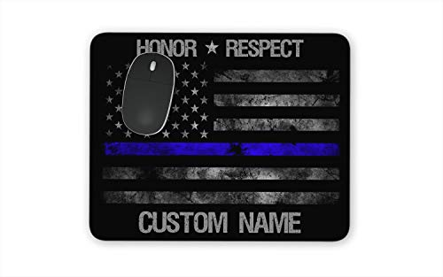 Thin Blue Line Custom Mouse Pad Support Cops Police Men in Blue Line of Duty Mousepads Law Enforcement