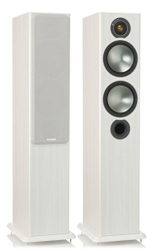 Monitor Audio Bronze 5 Standlautsprecher, Farbe: White Ash, 1 Paar