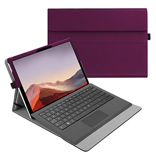 Fintie Case for New Microsoft Surface Pro 7 / Pro 6 / Pro 5 / Pro 4 / Pro 3 12.3 Inch Tablet - Multiple Angle Viewing Portfolio Business Cover, Compatible with Type Cover Keyboard (Purple)