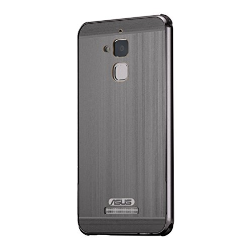 Asus ZenFone 3 Max ZC520TL Case, Forhouse Hard PC Back Design Thin Metal Frame Bumper Case with [Mirror Effect] Anti-Drop Shock-Absorption Shatterproof Cover (Black)