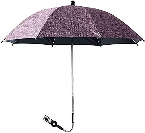 LIUPING Universal Paraguas para Carrito, Sombrilla para Cochecito De Bebé, UV 50 + Protección Solar (Color : Red, Size : 85cm)