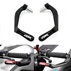 "Material: These 7/8"" 22mm brake clutch lever guards are made of high quality aluminum with CNC crafts technology , smooth surface treatment,matte black, scrub surface. Fitment: Lever guard suits for Honda CBR CBR1000RR CBR600RR CB599 F2 F3 F4 F4i, al..."