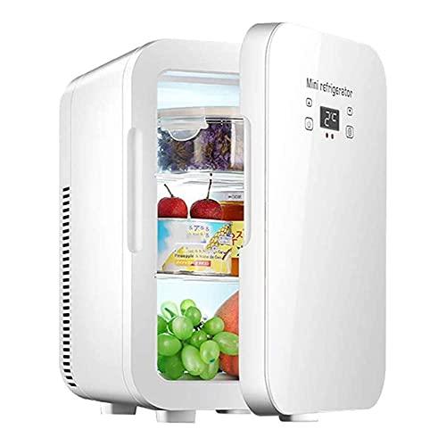 WBJLG Refrigerador silencioso, refrigerador portátil para automóvil, Mini refrigerador, Enfriador de 12 litros y Sistema de Suministro de energía de calefacción AC/DC, indicador de Temperatura LCD