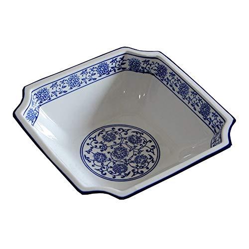 HAILI Tableware, WCS Große Suppenschüssel Rührschüssel große Kapazitäts-Fruchtsalatschüssel Nudel-Gemüse-Becken Dekoration Kollektion Behälter-Speicher-Bowl Hand Malerei blau und weißes Porzellan Chin
