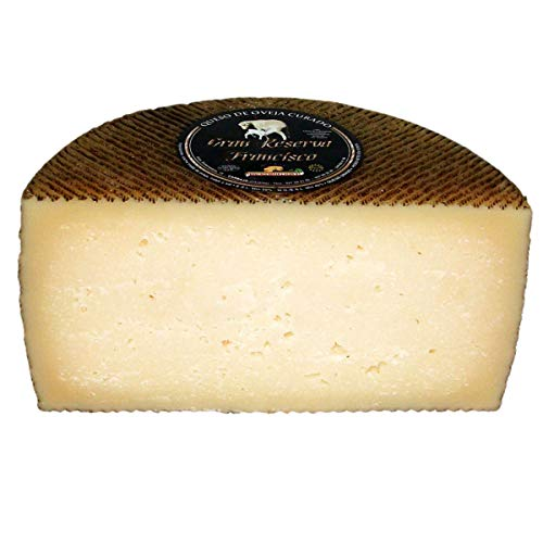 Queso de Oveja Viejo Extremeño Gran Reserva Curado - Medio Queso - Peso Aproximado 1500 gramos - Queso elaborado con leche cruda de Oveja - Queso Curado