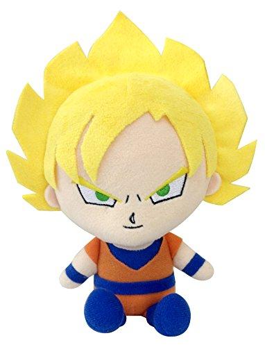 Bandai DBZ Dragon Ball Kai Mini poupée en Peluche – 20,3 cm Super Saiyan Son Goku en Peluche
