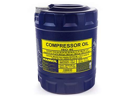 1 x 10L MANNOL Compressor Oil ISO 46 / VDL Lüftverdichteröl für Kolben und Schraubenkompressoren