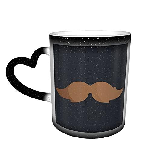 MENYUAN Baard kleur veranderende mok in de hemel koffie keramische beker geschenken voor familie liefhebbers vrienden