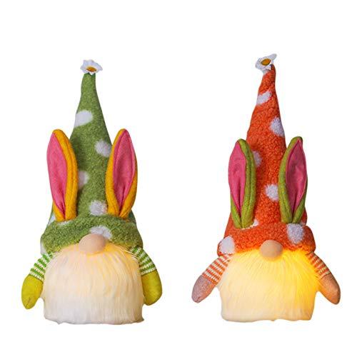 Acook 2 piezas de decoración de Pascua, muñeca de peluche sin cara, regalo de Pascua hecho a mano para niños/mujeres/hombres, decoración para el hogar, decoración de árbol