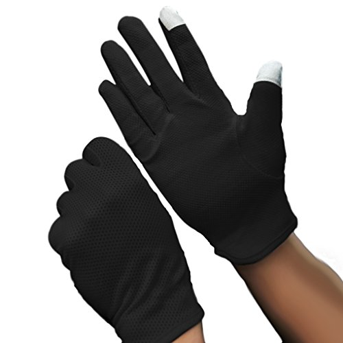 MioCloth Summer Non Slip Driving Cycling Motorcycle Gloves UV Protection Touchscreen, Black, One Size