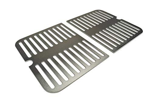 Edelstahl Grillrost und Grillplatte passend für Weber Go Anywhere, Größe:Grillrost (2 Hälften)