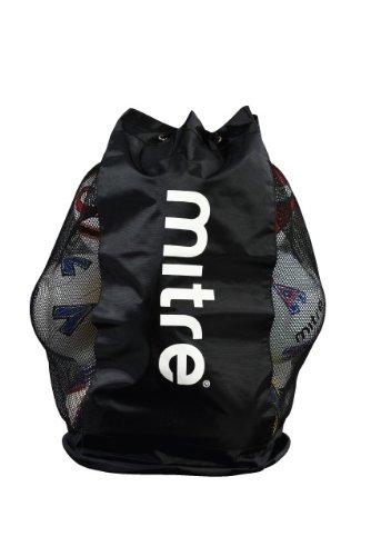 Mitre Netzballtasche schwarz schwarz 12 Ball