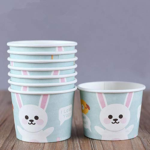 Miner 50st cartoon ijs kom kleine ronde wegwerp papieren bekers verjaardagsfeestje gunsten dessert beker met deksel, alleen beker