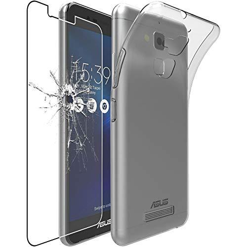 ebestStar - Funda Compatible con ASUS Zenfone 3 MAX ZC520TL Carcasa Silicona, Protección Claro Ultra Slim, Transparente + Cristal Templado Protector Pantalla [Aparato: 149.5 x 73.7 x 8.6mm, 5.2'']