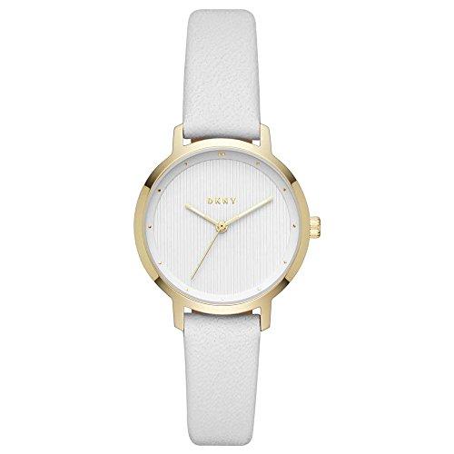 DKNY Damen Analog Quarz Uhr mit Leder Armband NY2677