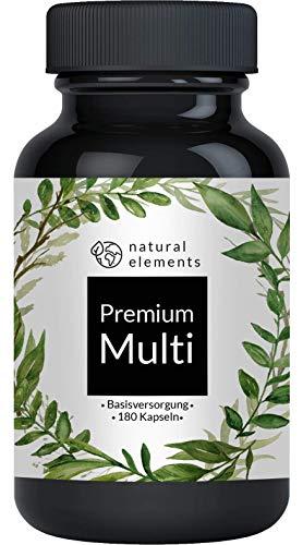 Multivitamin - Umfangreicher Komplex mit Bioaktiv-Formen und Premium-Rohstoffen - Hochdosiert - 180 Kapseln