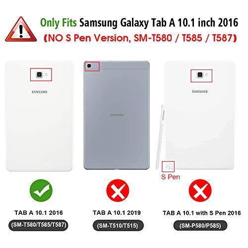 Fintie Hülle für Samsung Galaxy Tab A 10.1 2016 - Ultra Schlank Superleicht Ständer Schutzhülle mit Auto Schlaf/Wach Funktion für Samsung Galaxy Tab A 10,1 Zoll T580N / T585N, Sternbild