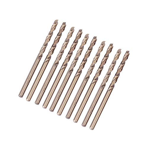 Keyren Broca de cobalto,juego de brocas de cobalto, juego de brocas de cobalto M35 Juego de brocas HSS-CO de 1.0-5.0 mm para taladrar en acero inoxidable,hierro fundido,chapa metálica(4.5mm)