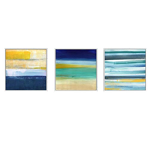 MBQ 3 Pieces Abstract Canvas Modern Painting Bright Graffiti Wall Paintings Wall Decoration Print, A