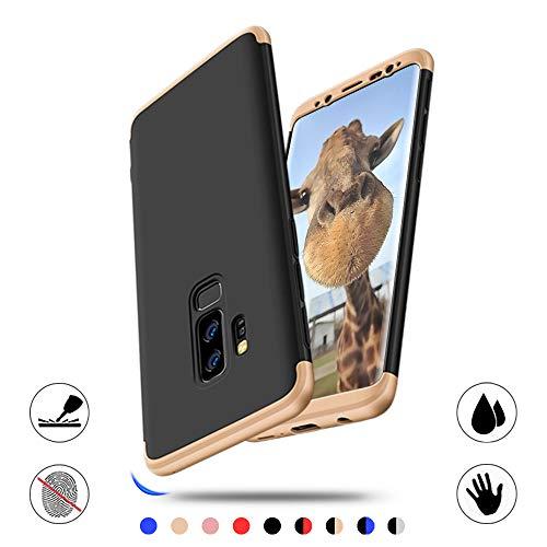 AChris Samsung Galaxy S9 Plus Hülle, 3 im 1 Handyhülle Schutzhülle Schutzhülle aus Hart-PC Ultra Dünn Rückseite Stoßfest für Samsung Galaxy S9 Plus