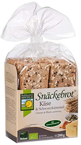 Bohlsener Mühle Bio Schwarzkümmel & Käse Snäckebrot (6 x 200 gr)