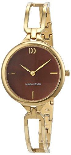 Danish Design Damen Analog Quarz Uhr mit Edelstahl beschichtet Armband 3320217