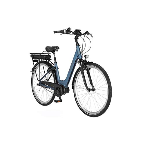FISCHER E-Bike City CITA 2.0, Elektrofahrrad, saphirblau matt, 28 Zoll, RH 44 cm, Mittelmotor 50 Nm, 36 V Akku