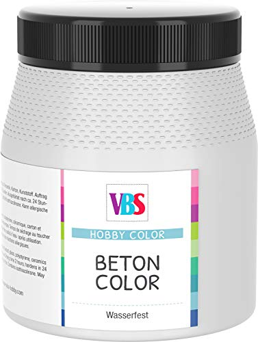 VBS Betonfarbe Beton-Optik Beton Color speichelecht Schabby Chic Vintage Landhaus wasserfest 250ml Hellgrau