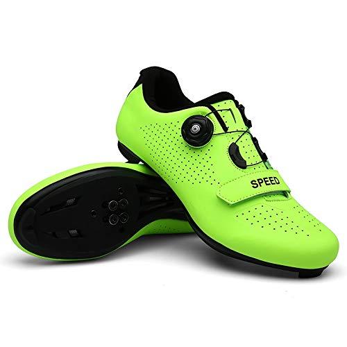 Gaodpz Ciclismo de Carretera Zapatos de los Zapatos de los Hombres Zapatos de Bicicleta de montaña de la Bicicleta de montaña MTB Ciclo de la Zapatilla de Deporte del Triathlon Racing Zapatos