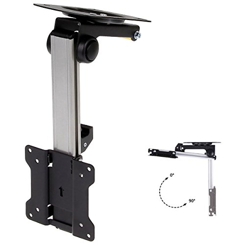 """InstallerParts 13""""-27"""" RV TV Ceiling Mount for Under Cabinet Kitchen, Aluminum TV Bracket Folding, Retractable , Fold Down for LED, LCD,TV, Monitor, Flat Screens 75x75 and 100x100"""