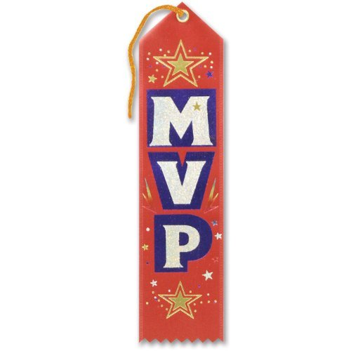MVP Award Ribbon 2 x 8 Party Accessory by Beistle