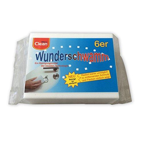 Osma 6 Stück Packung Wunderschwamm, Schmutzradierer, Putzschwamm, Radierschwamm 12x5x2,5cm