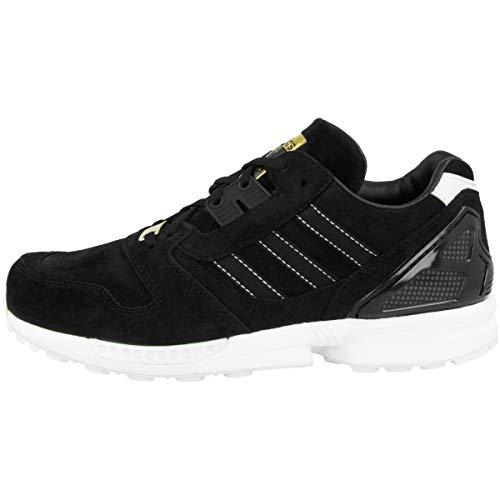 adidas originals ZX 8000, Core Black-Core Black-Footwear White, 9