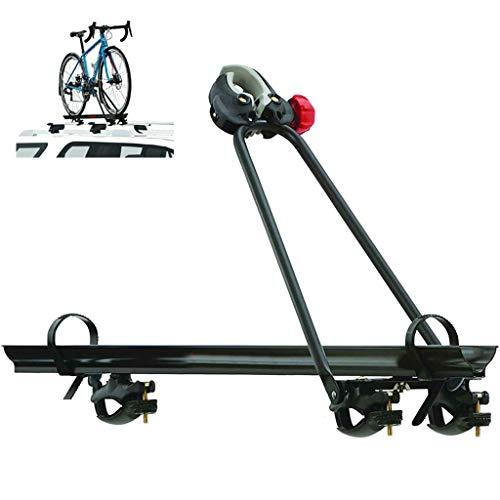 YYDE Percha para Bicicletas, Estante de Bloqueo para Bicicletas Enganche, 1 Coche Bicicleta de Montaje en Techo azotea Portador de Soportes de Bicicletas Bastidores con el Bloqueo